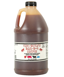 HOT Tim-Buck's Bar-B-Q Sauce 1/2 Gallon