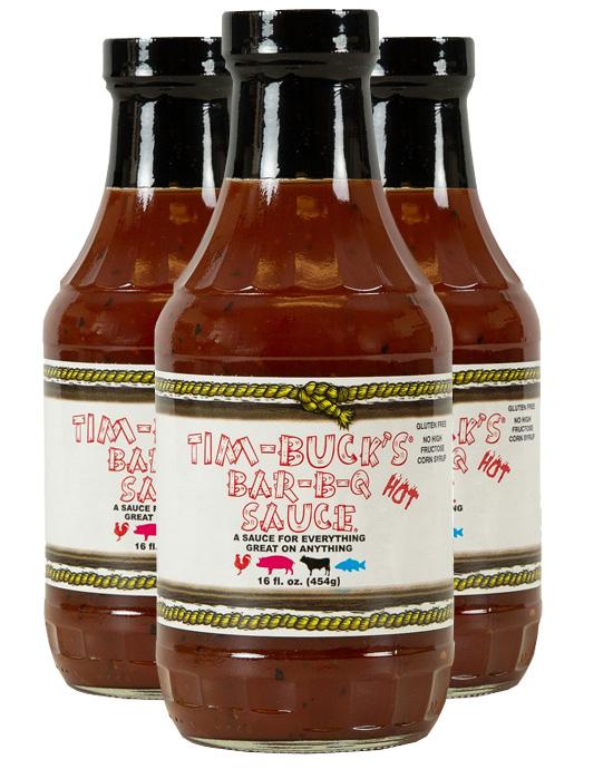 Tim-Buck's HOT Bar-B-Q Sauce (3 Pack)